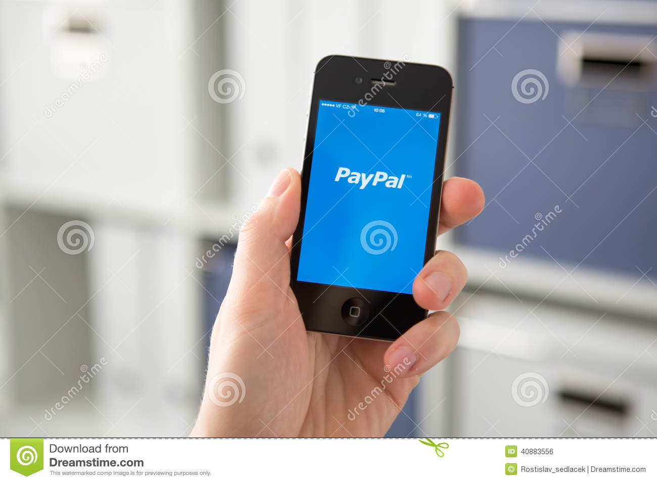 HODONIN CZECH REPUBLIC - APRIL 7: PayPal the most popular way of