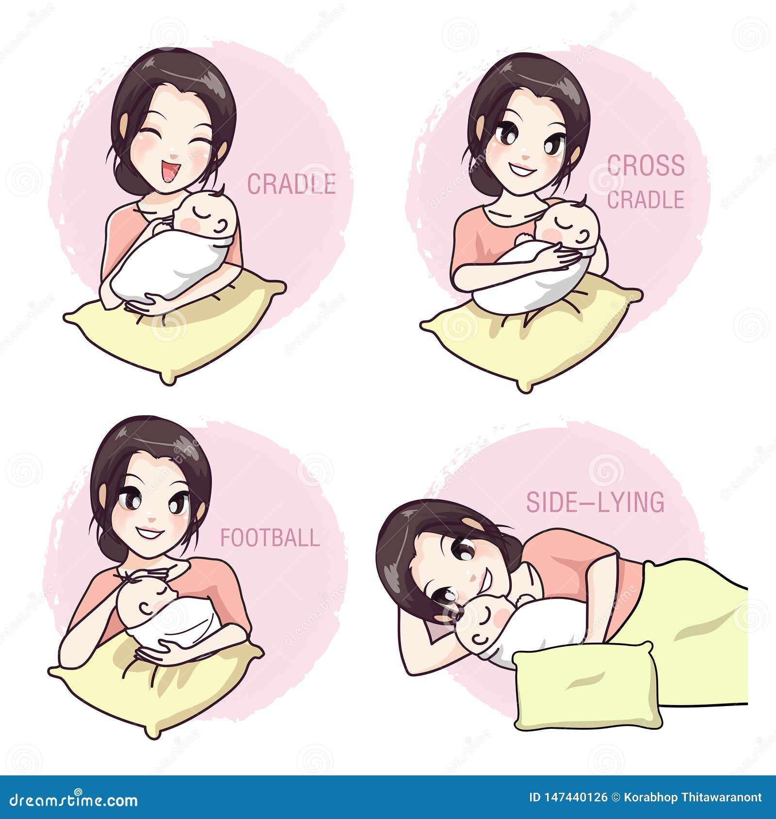Hoe te om een baby door een moeder te nemen
