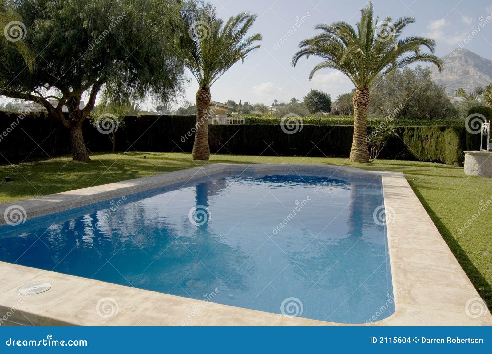 Hoek die van een zwembad is ontsproten