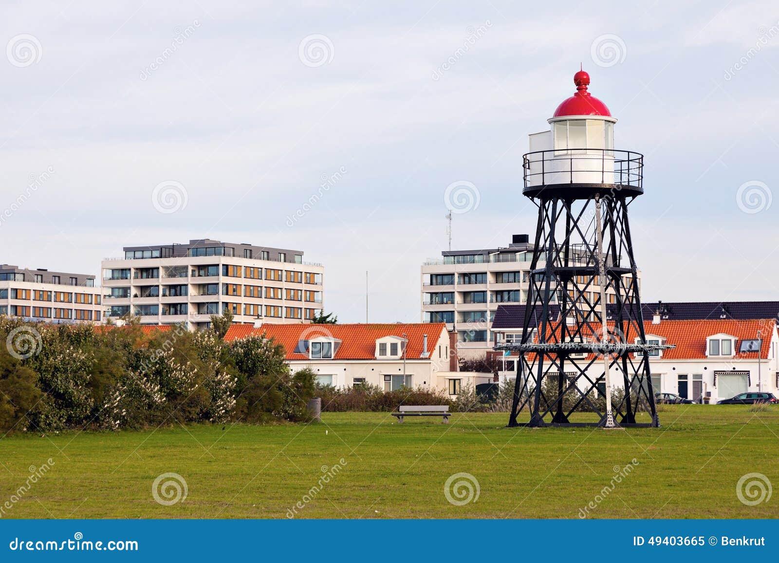 Download Hoek-Packwagen Holland - Kleiner Leuchtturm Stockbild - Bild von haus, rotterdam: 49403665