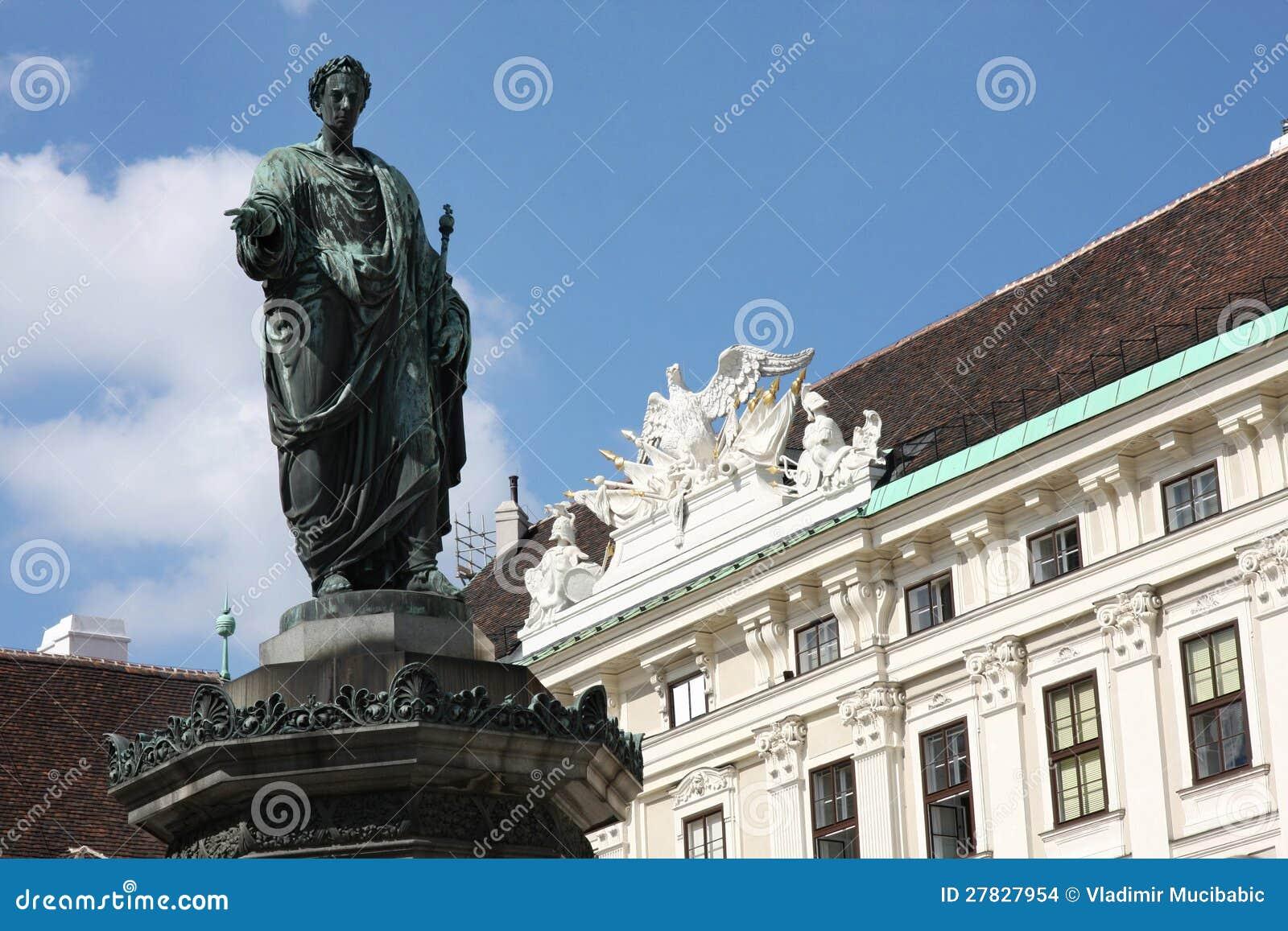 Hofburg Pałac podwórze w Wiedeń, Austria