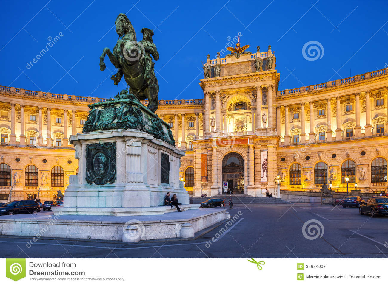 Hofburg Palace In Vienna Austria Editorial Photography