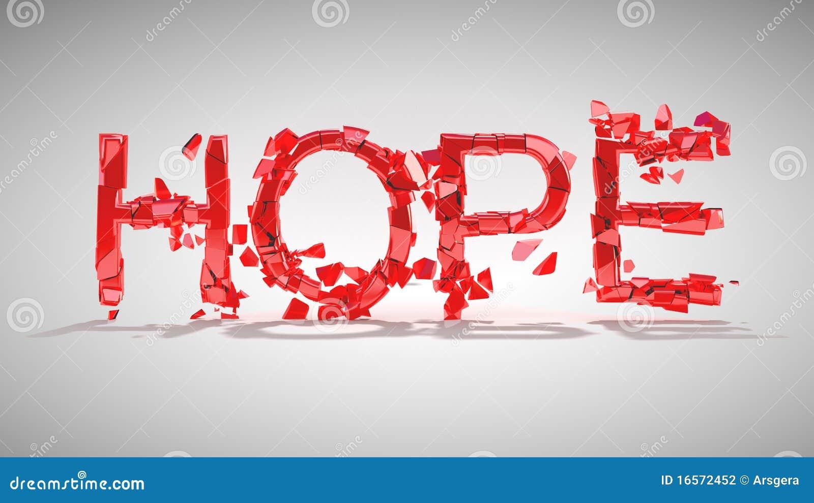 Hoffnung ist verloren. Wortzerstörung