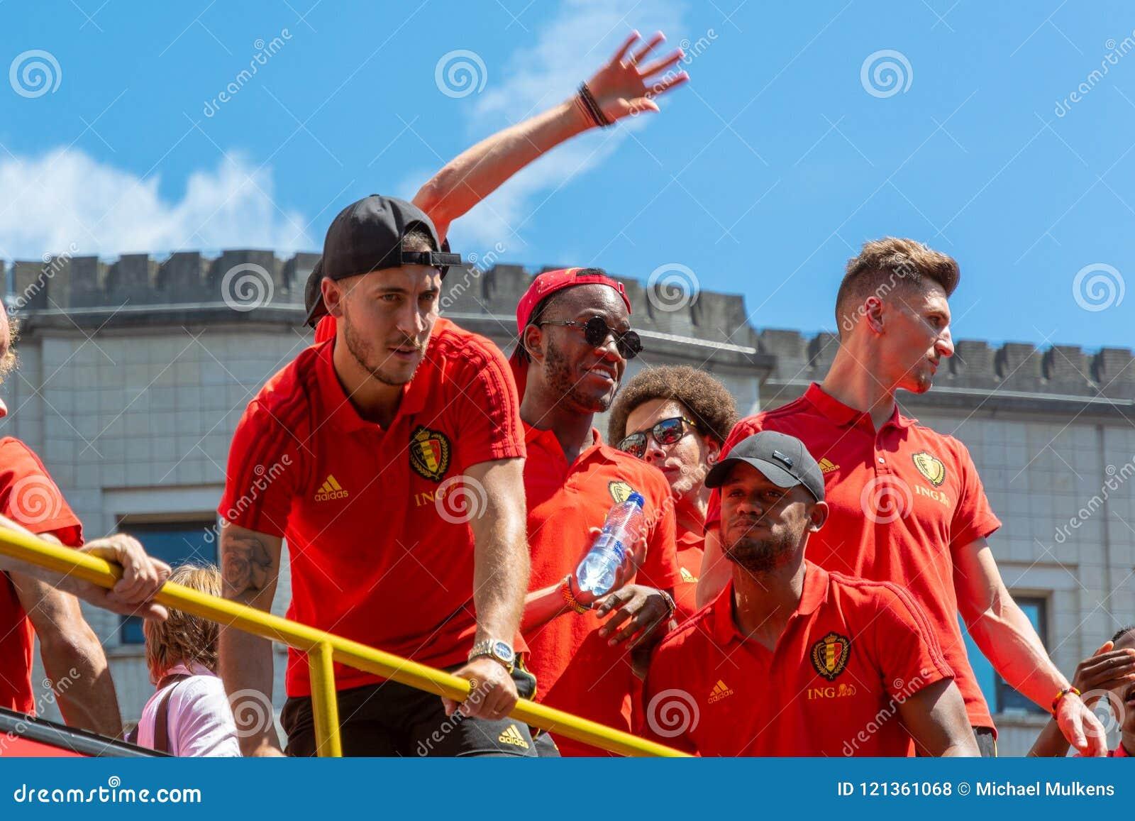 Hogar de la parte posterior del equipo de fútbol de Bélgica
