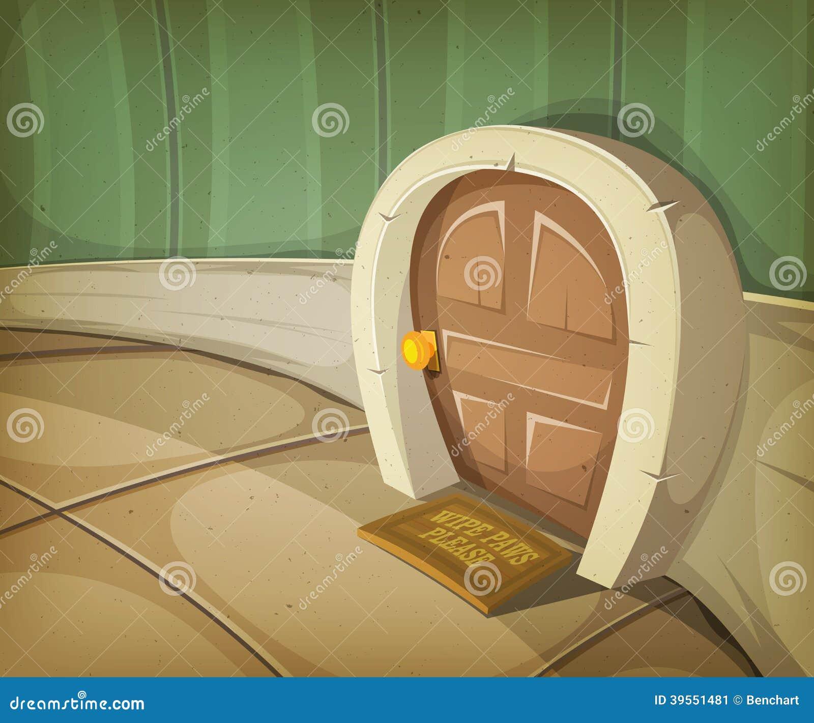 Hogar Del Ratón Dentro De La Casa Ilustración del Vector ...
