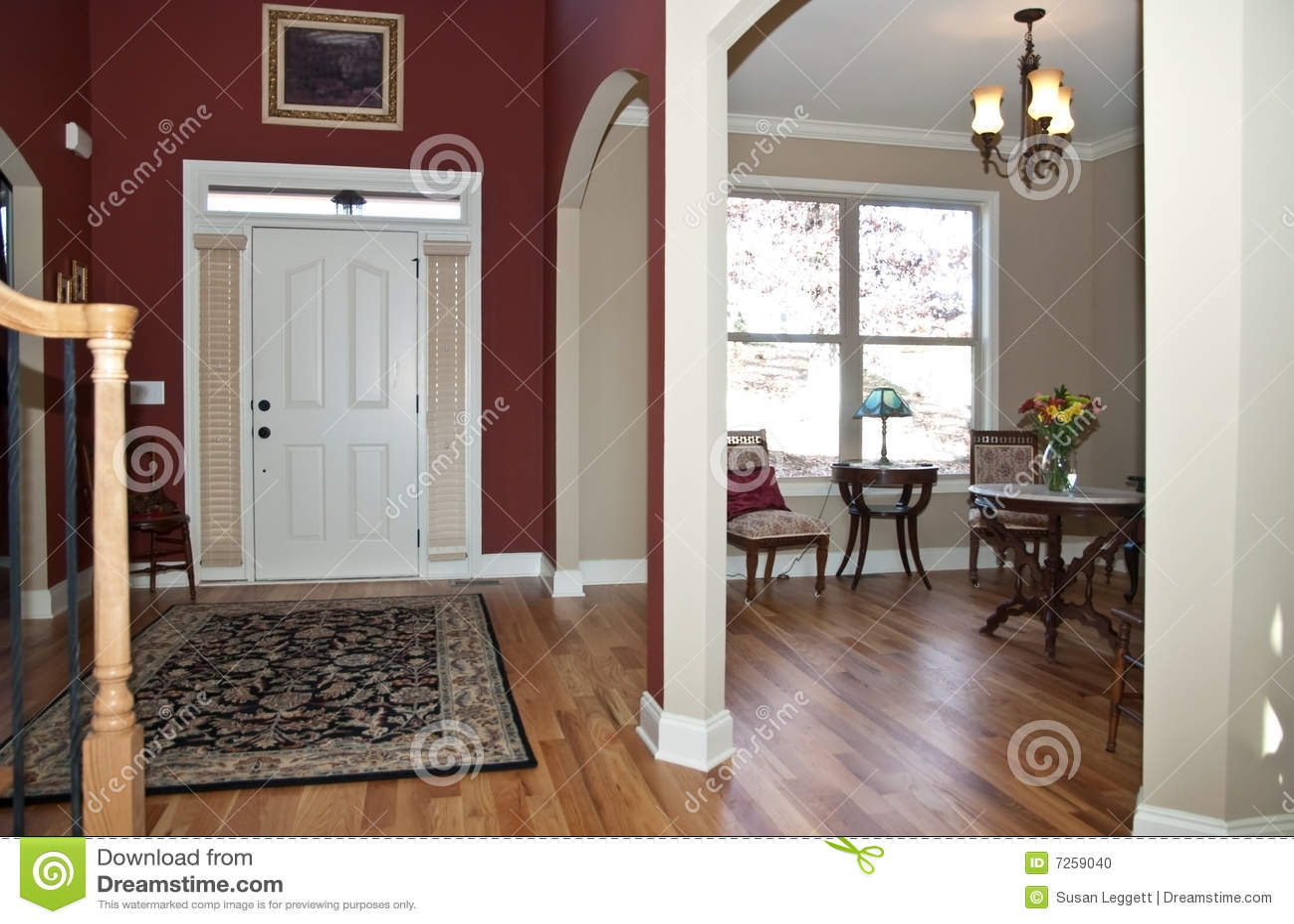 Hogar entrada sala de estar modernos foto de archivo for Muebles de sala de estar modernos