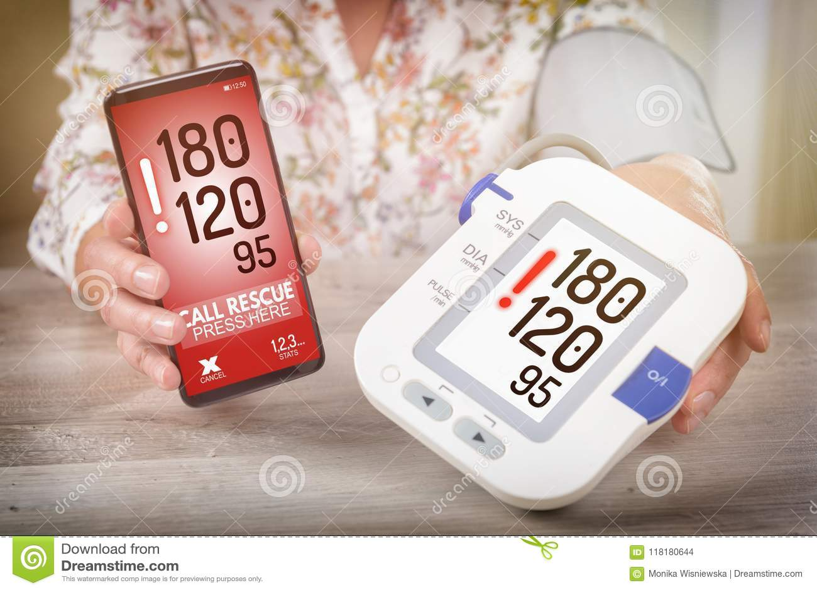 Hoge bloeddruk die - hulp met slimme telefoon app verzoeken