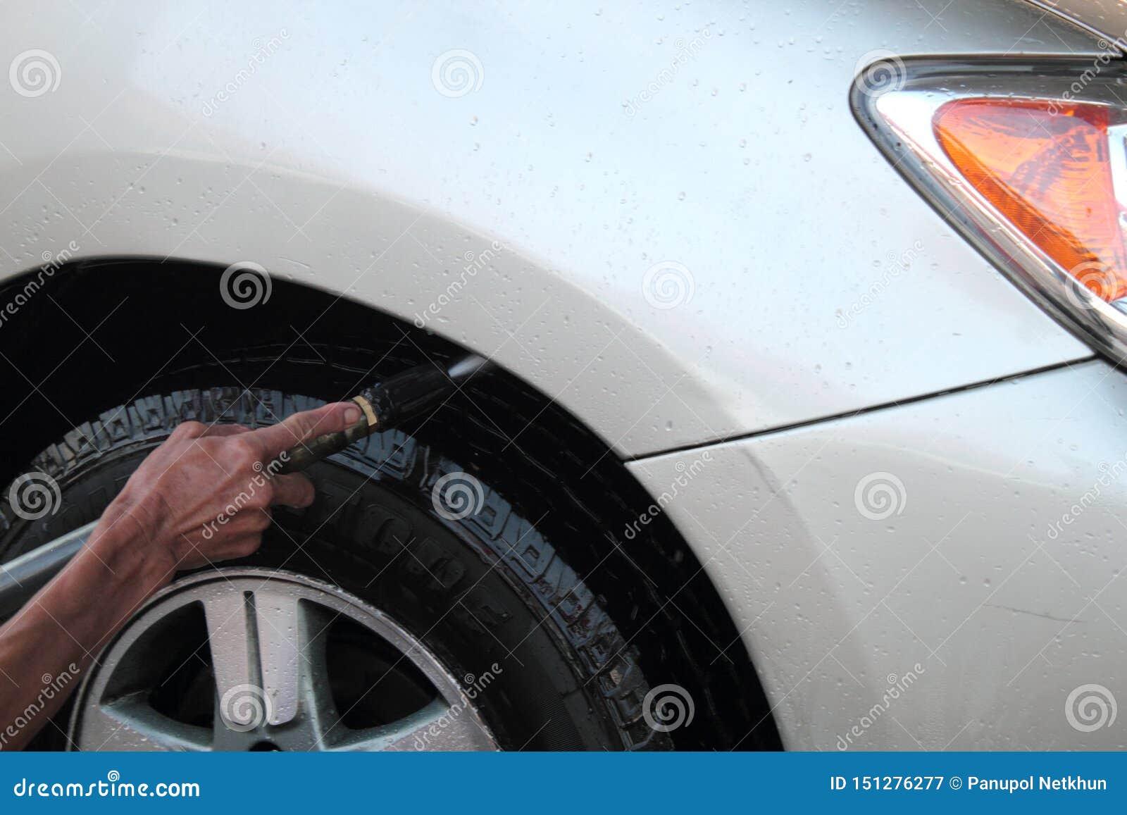 Hoge druk schoonmakende autowasserette