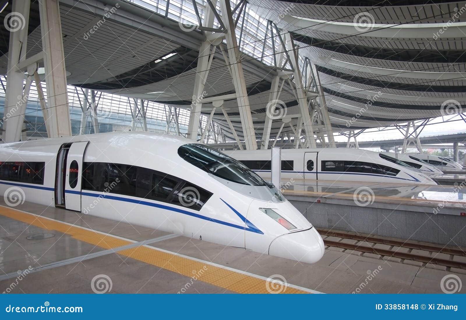 Hoge snelheidsspoor, het Station van Peking