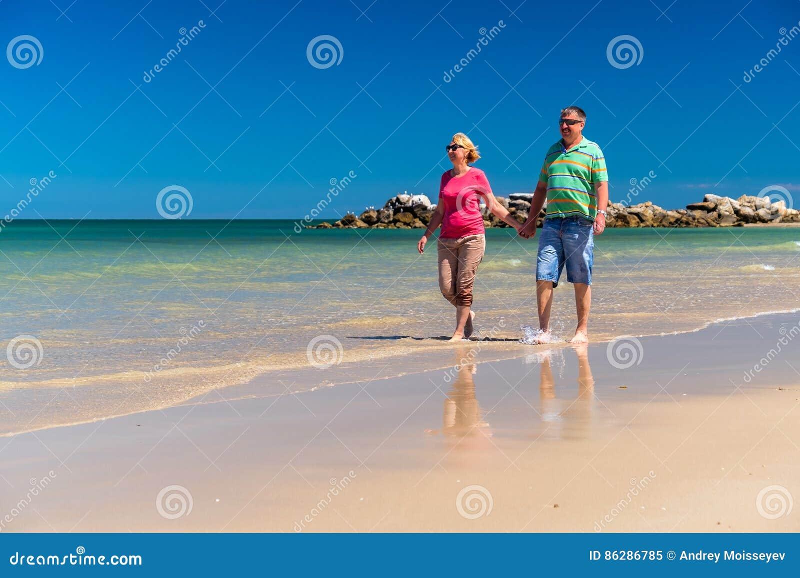 Hoger Paar bij het Strand