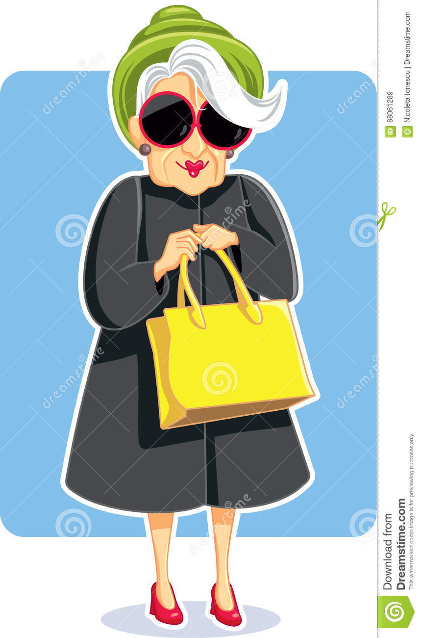 Hogere Manier Dameholding purse vector Illustratie