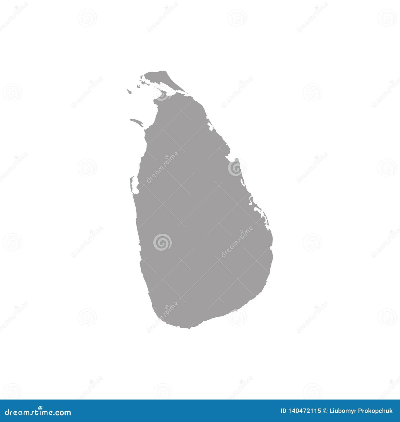 Hohe ausführliche Vektorkarte von Sri Lanka mit Navigationsstiften