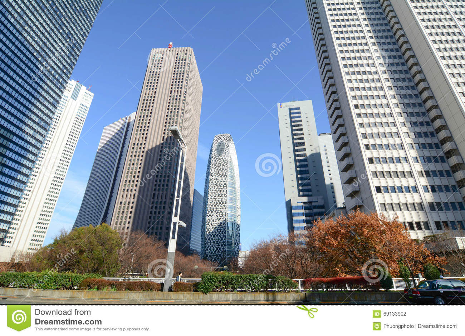 Hohe Gebäude in Shinjuku, Tokyo, Japan