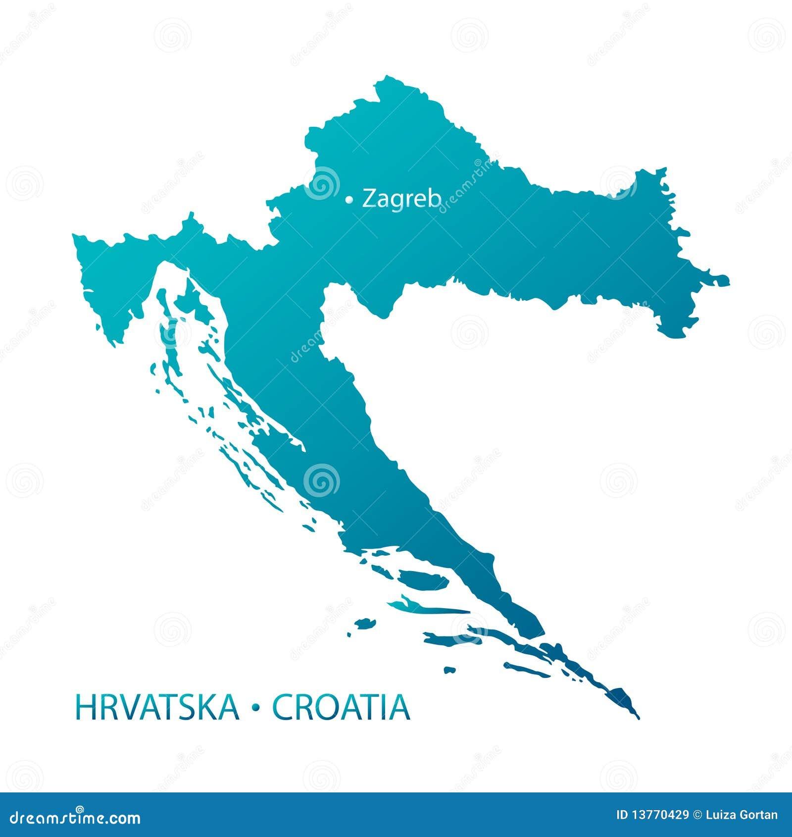 in hohem grade ausf hrliche blaue kroatien karte lizenzfreie stockbilder bild 13770429. Black Bedroom Furniture Sets. Home Design Ideas