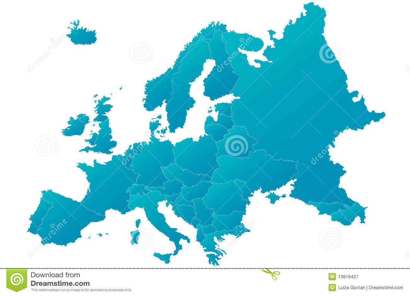 in hohem grade ausf hrliche blaue europa karte lizenzfreie stockfotografie bild 13819427. Black Bedroom Furniture Sets. Home Design Ideas