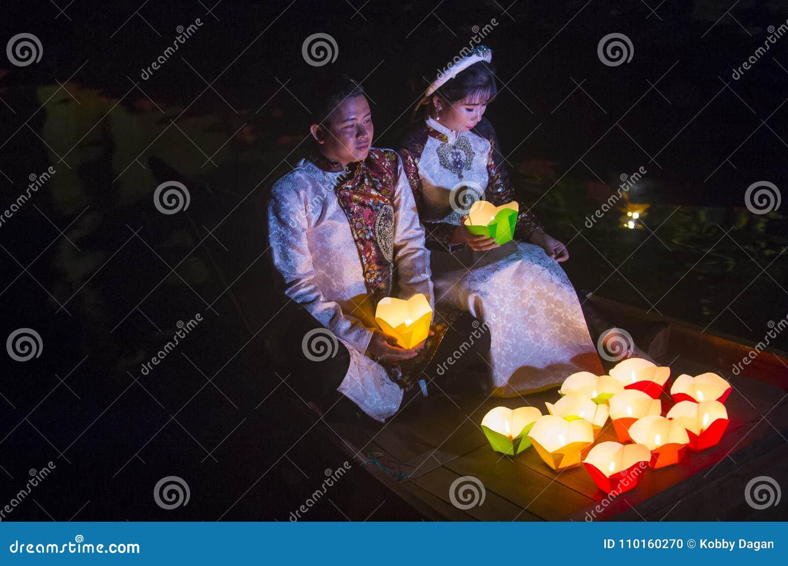 The Hoi An Full Moon Lantern Festival Editorial Image Image Of Danang Decoration 110160270