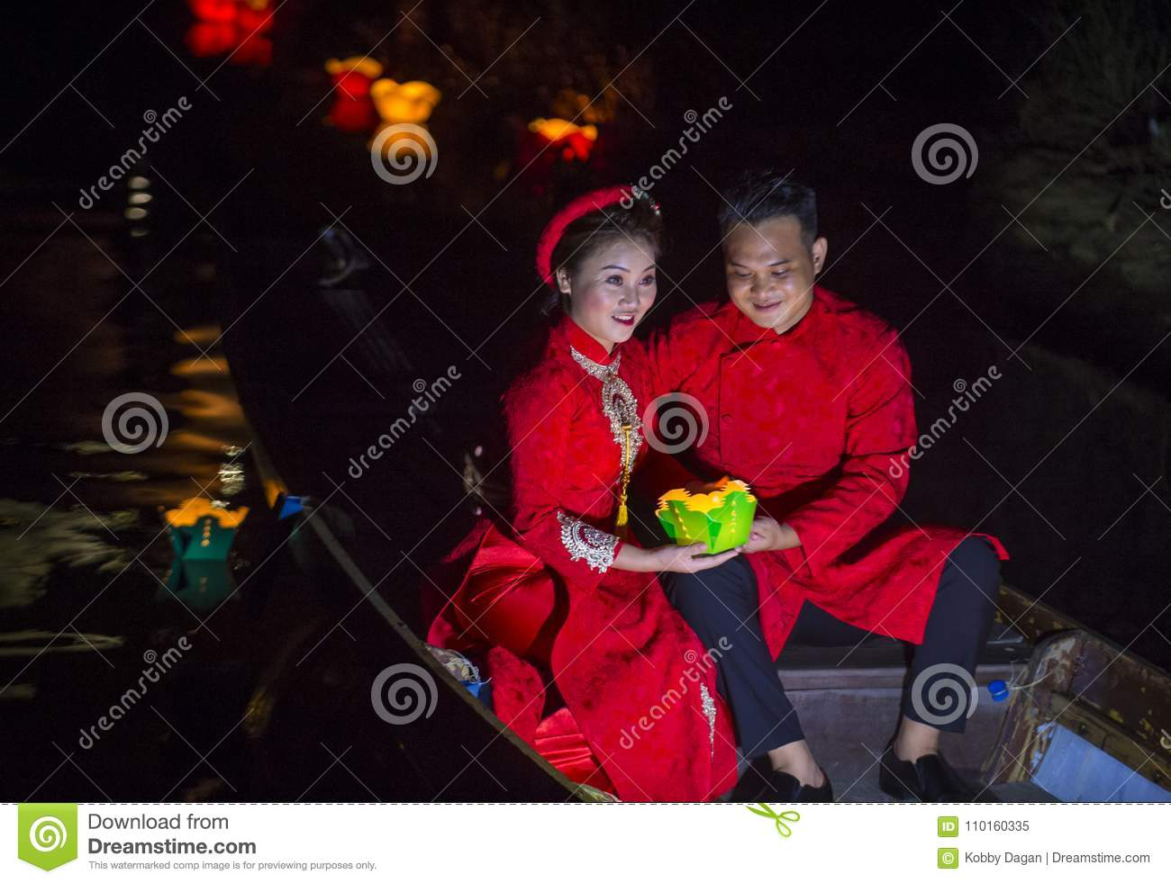 The Hoi An Full Moon Lantern Festival Editorial Image Image Of Culture Celebrate 110160335