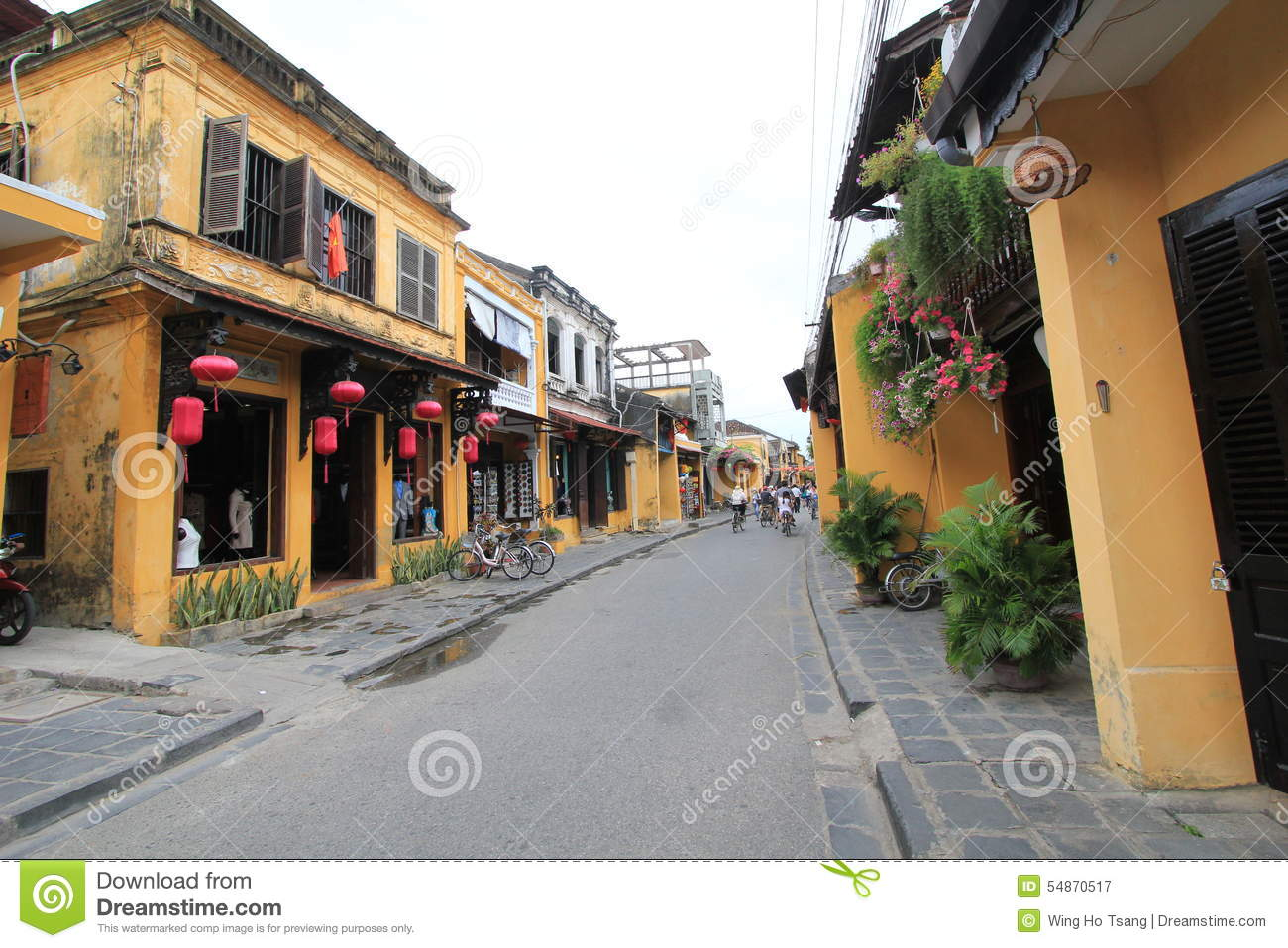 Hoi An street view in Vietname
