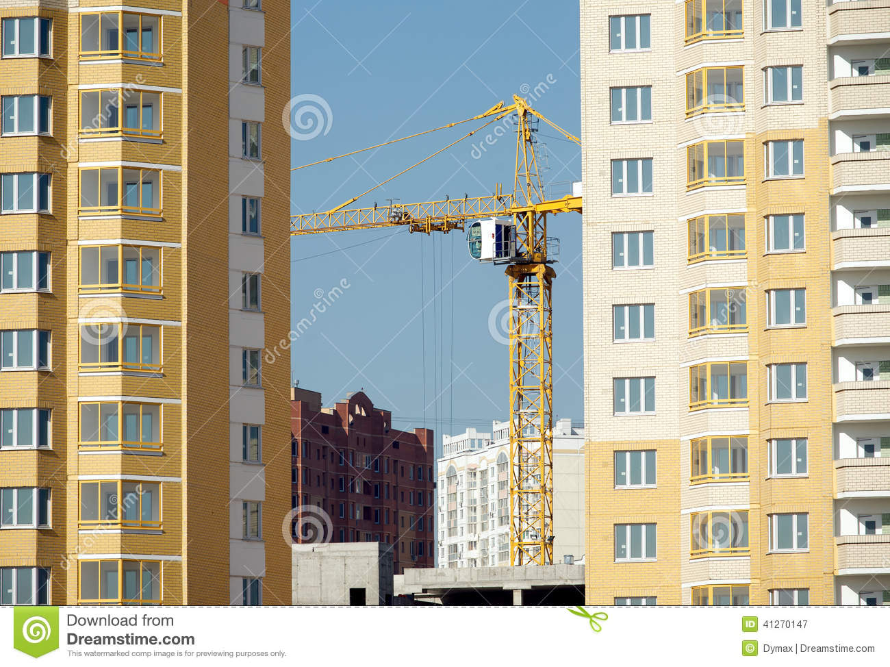 Residential tower construction royalty free stock photo for New construction building process