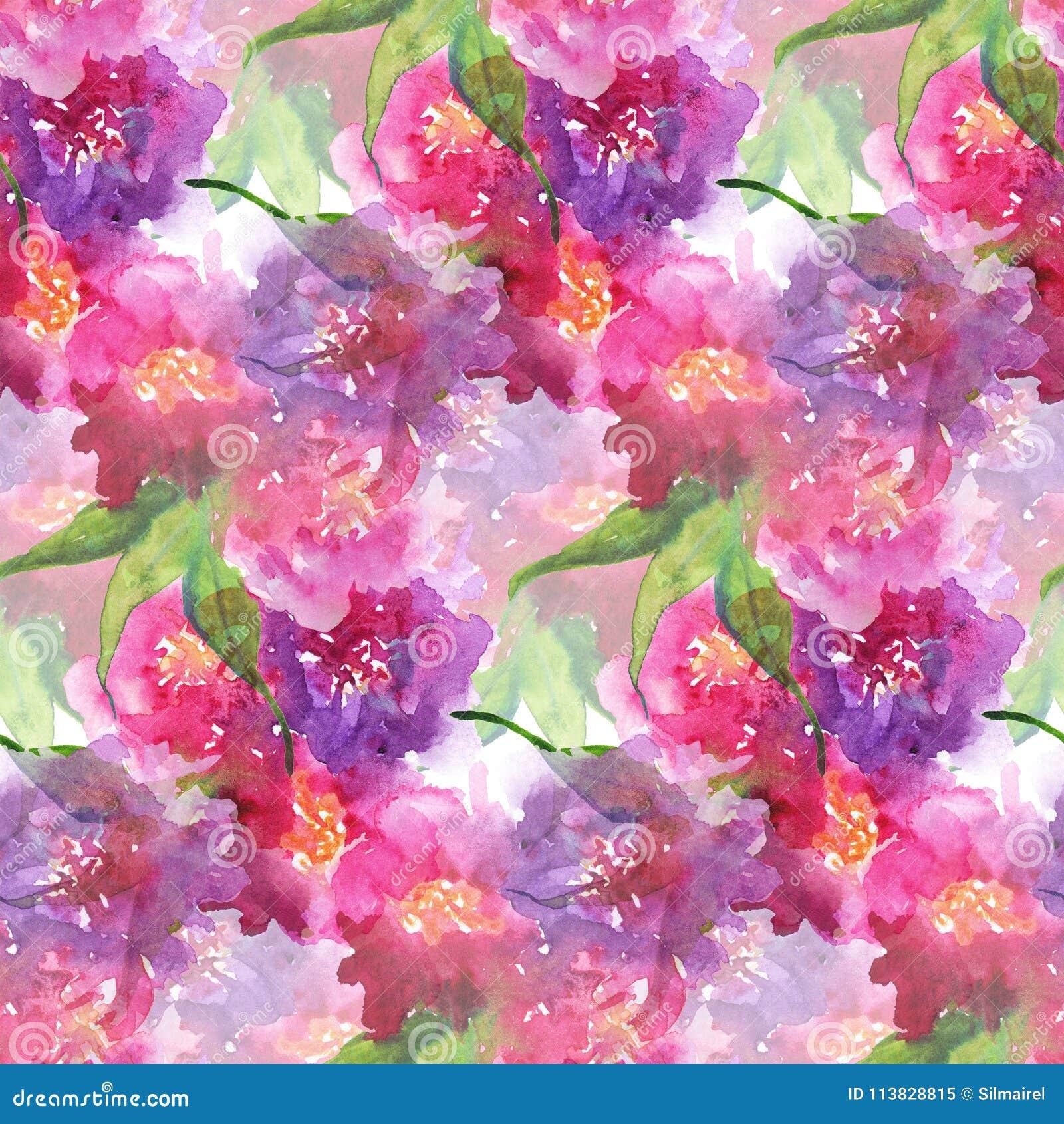 Hoja Color De Rosa S Del Clavel De La Peonía Floral Púrpura Rosada ...