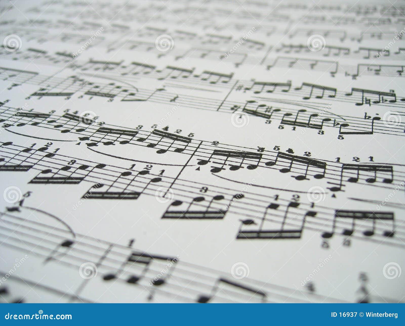 Hoja de la música