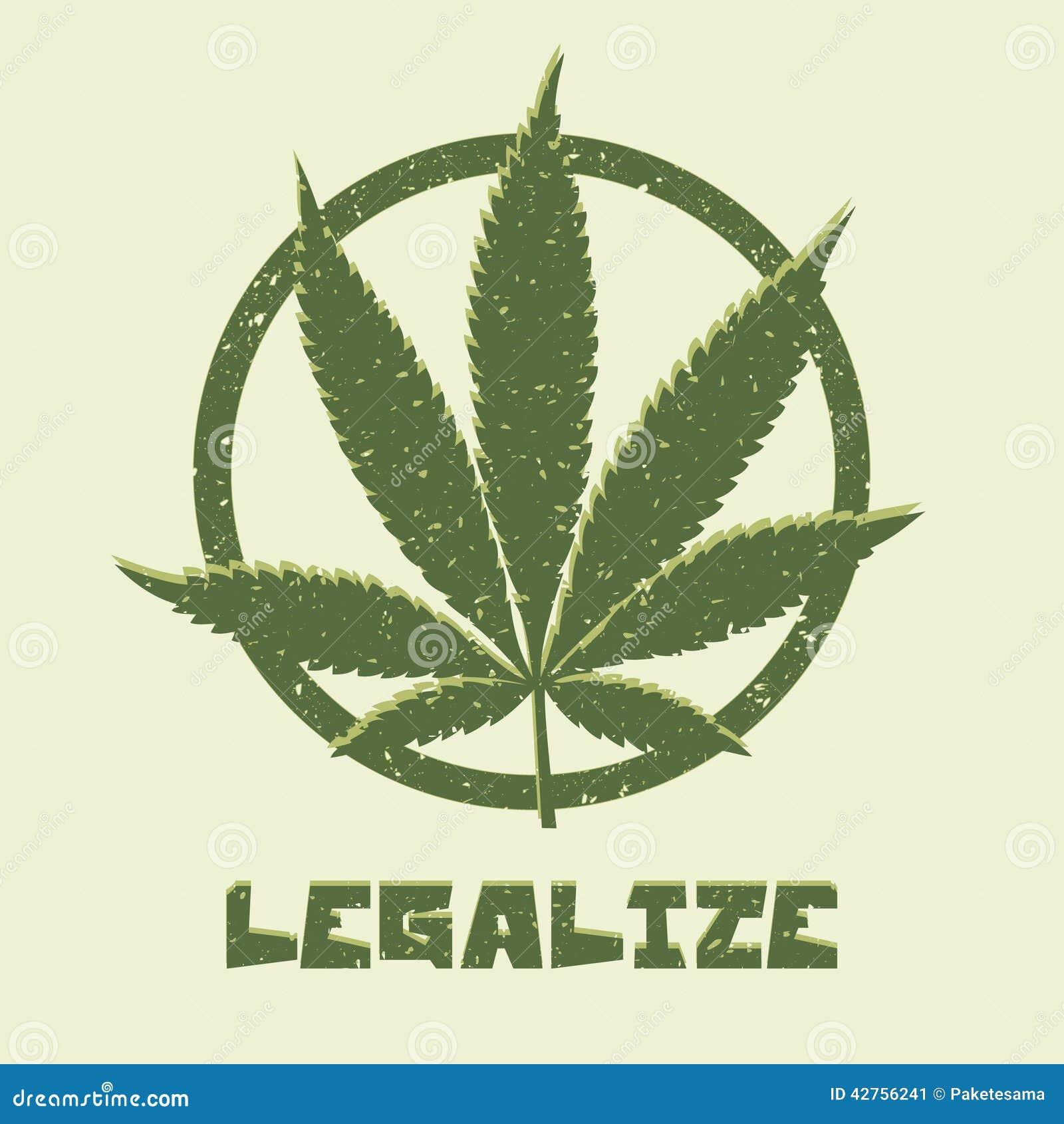 Hoja de la marijuana del estilo del Grunge Legalice médico