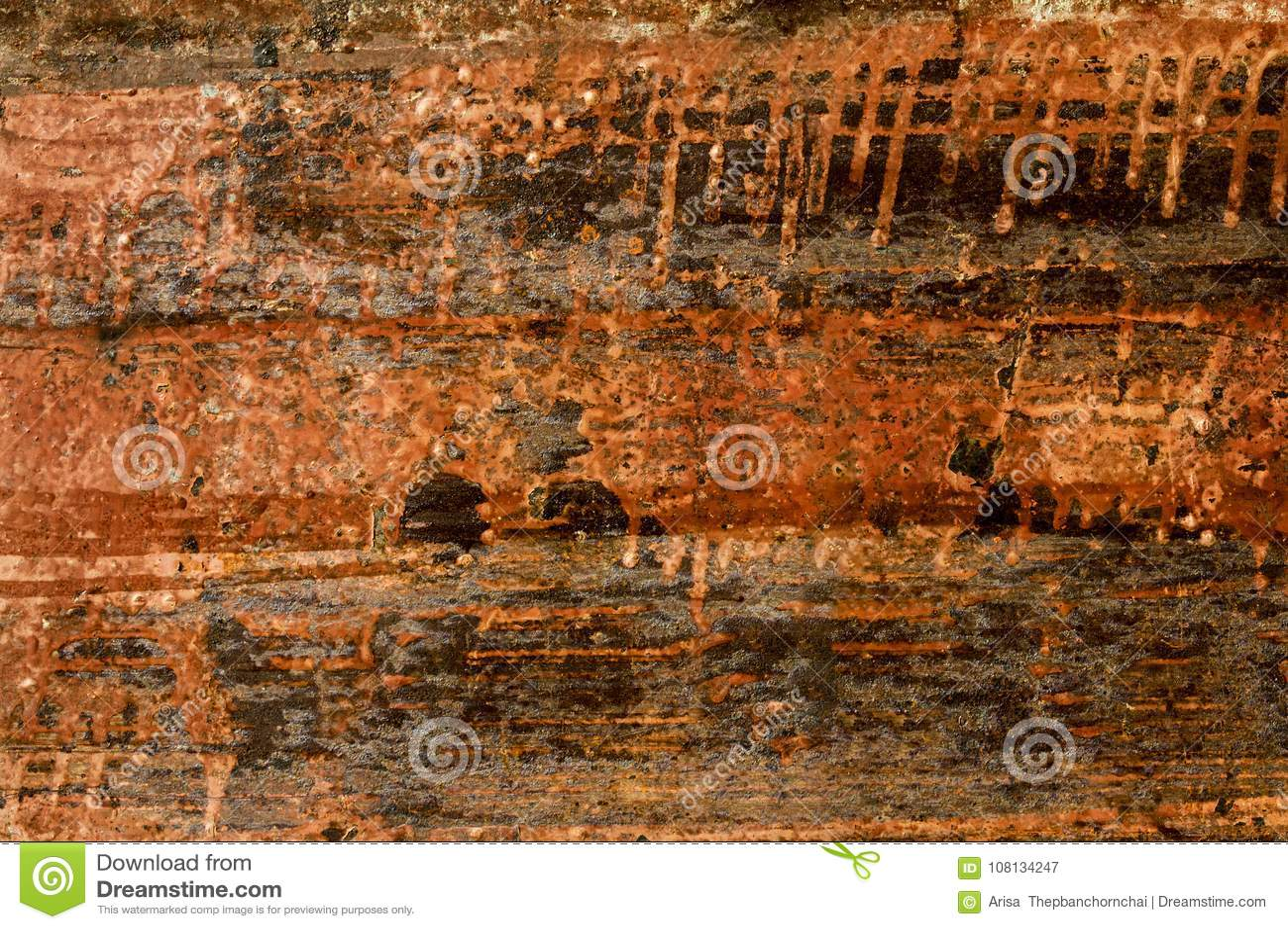 Hoja de metal aherrumbrada vieja Superficie oxidada causada por el hierro w de la oxidación