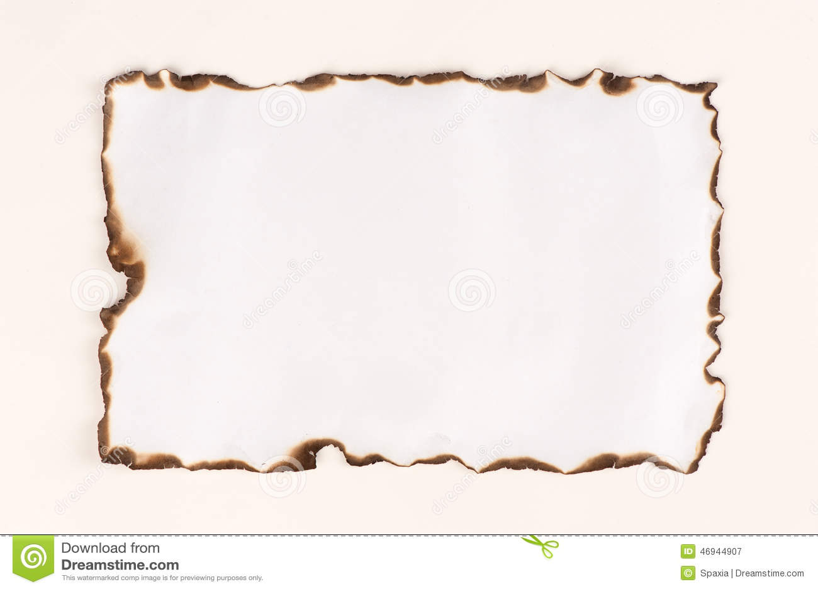 hoja de papel quemada imagen de archivo imagen de blank 46944907. Black Bedroom Furniture Sets. Home Design Ideas
