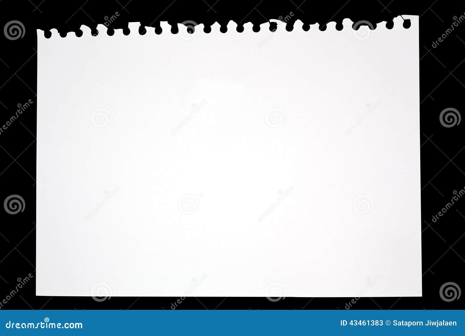 Libreta De Hojas Blancas De Dibujo Jpg By Gianferdinand: Hoja De Papel Rasgada Del Cuaderno De Dibujo Foto De
