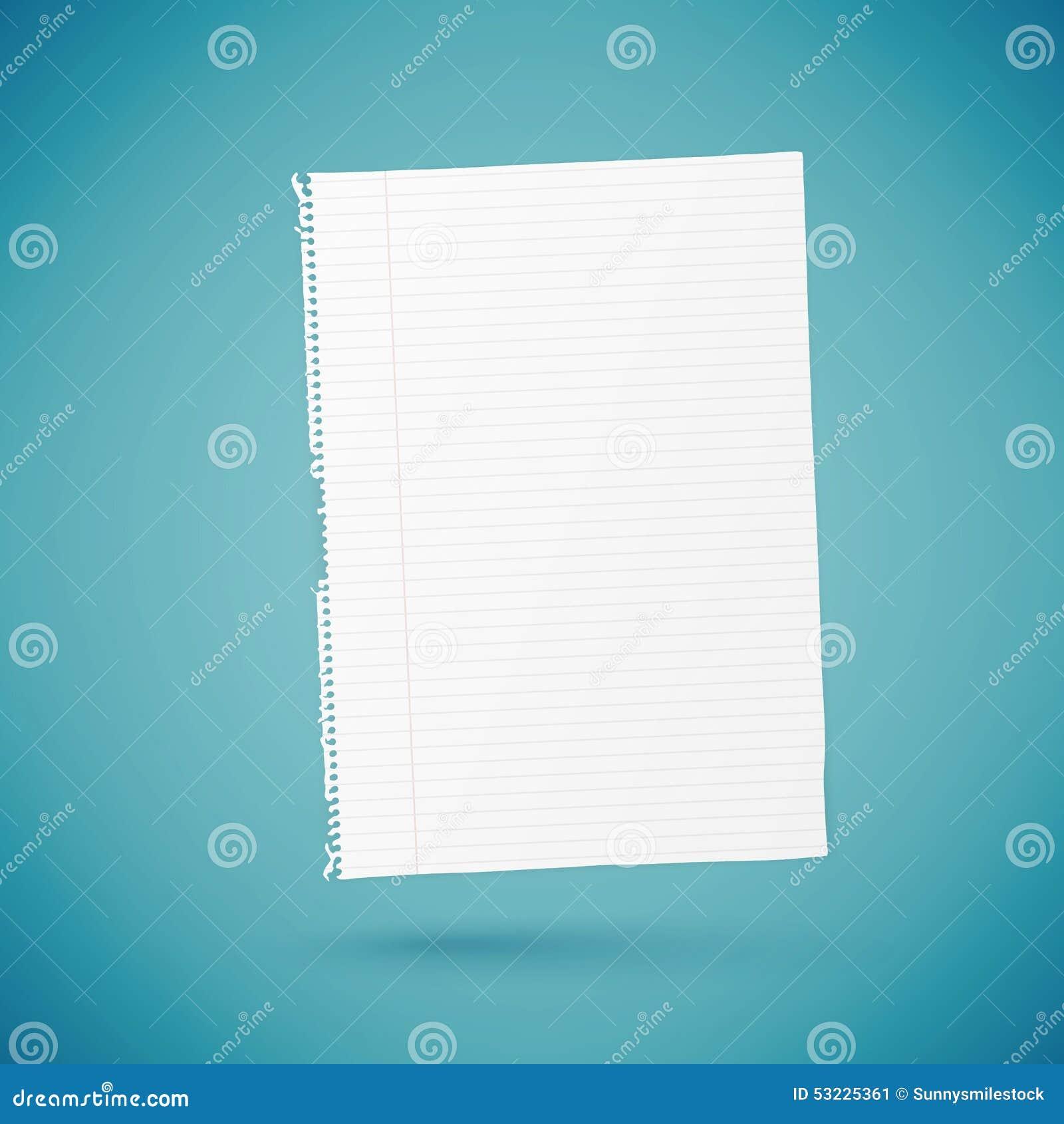 Hoja de papel vacía