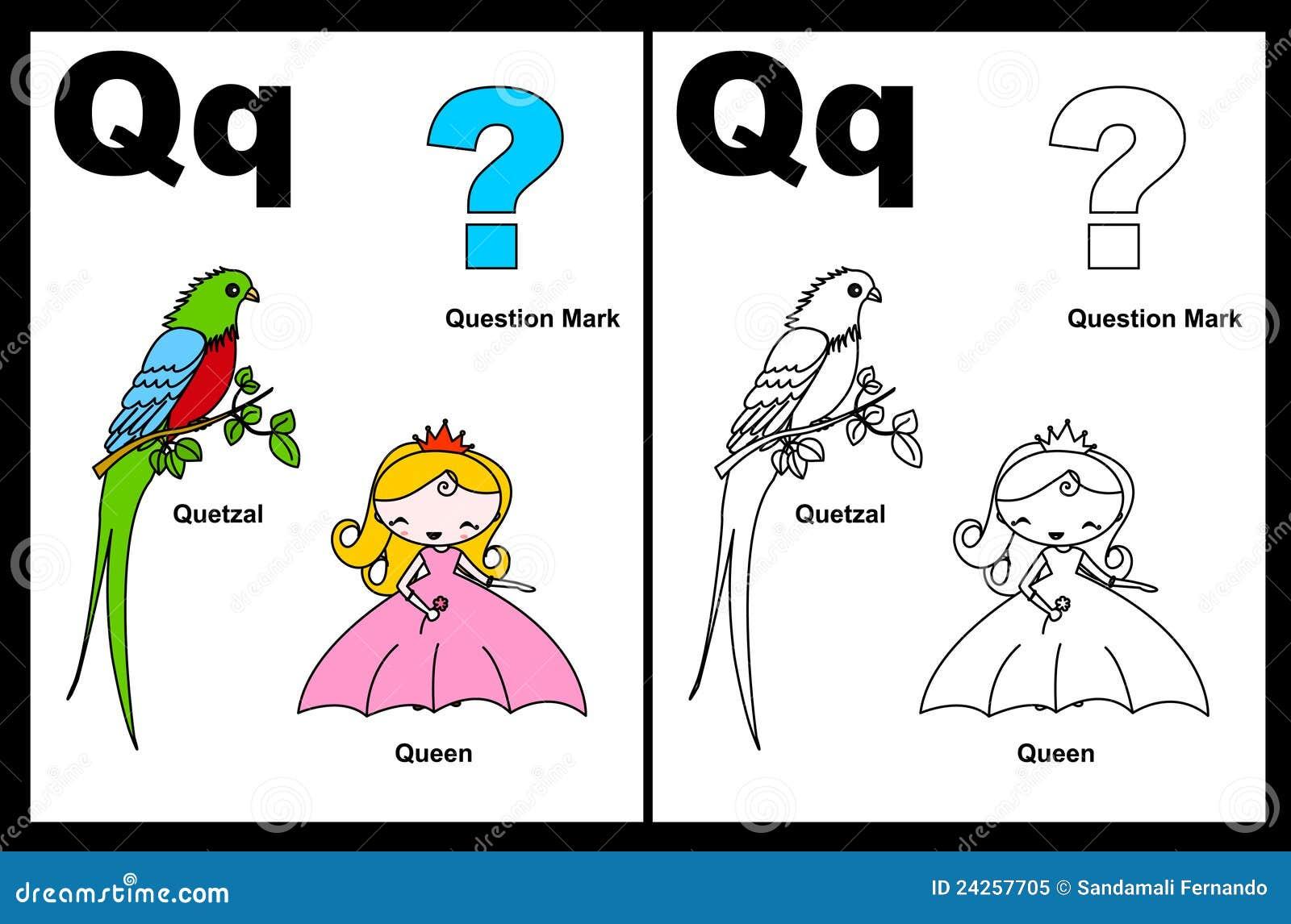 Letter Q Coloring Pages  dltkteachcom