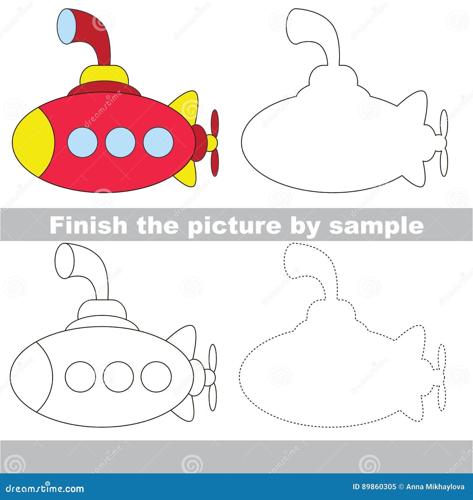 Hoja De Trabajo Del Dibujo Para Toy Transport Ilustración del Vector ...