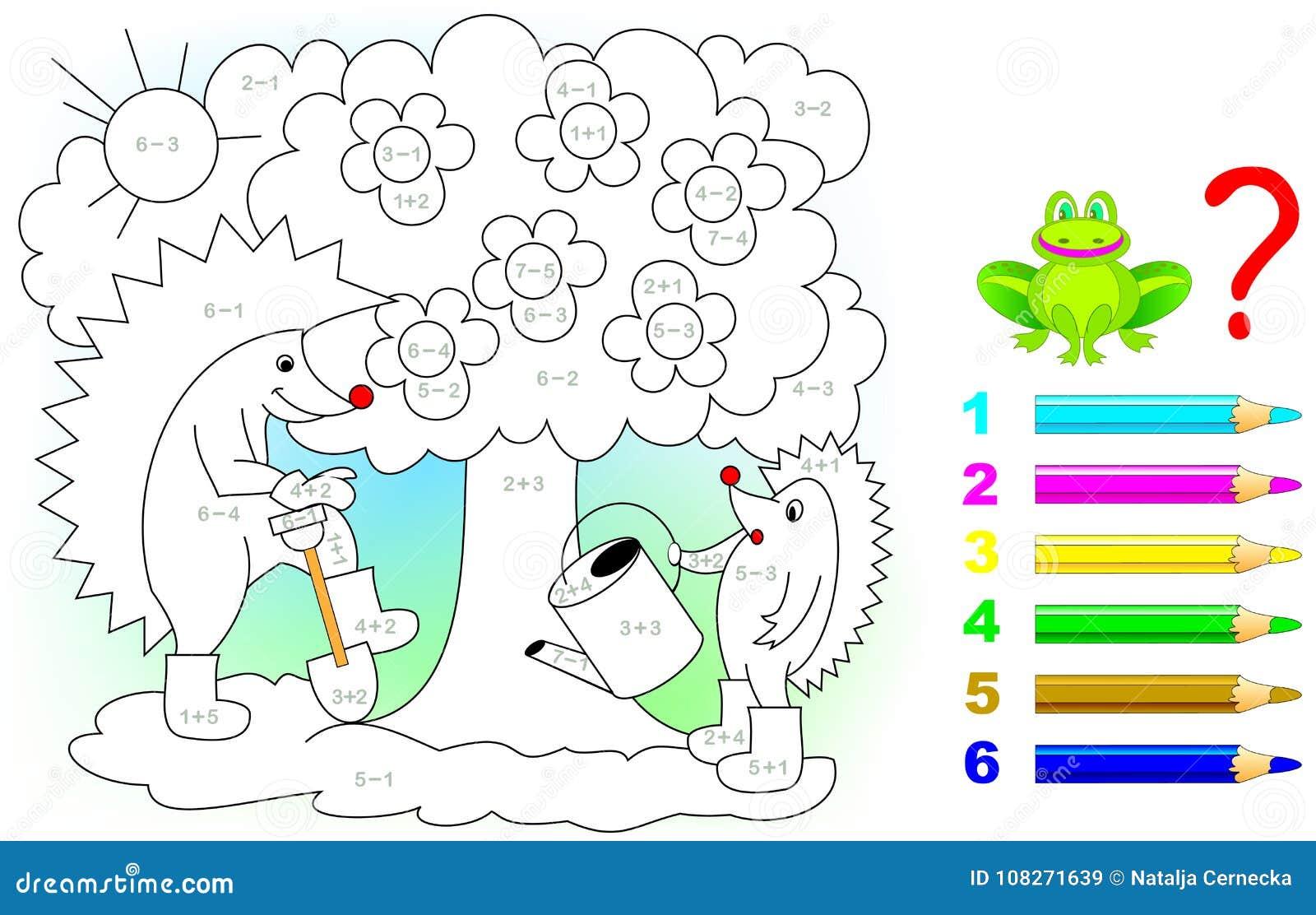 Hoja De Trabajo Matemática Para Los Niños En La Adición Y La ...