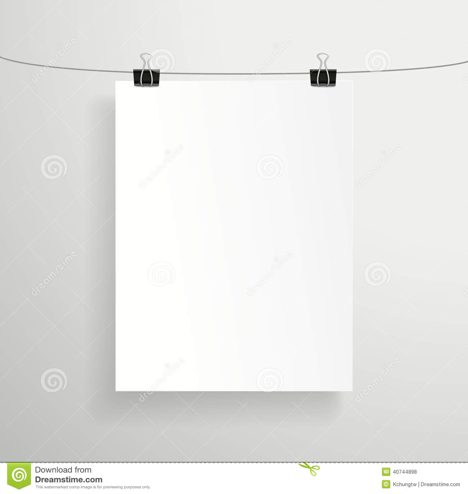 hoja de papel blanca: