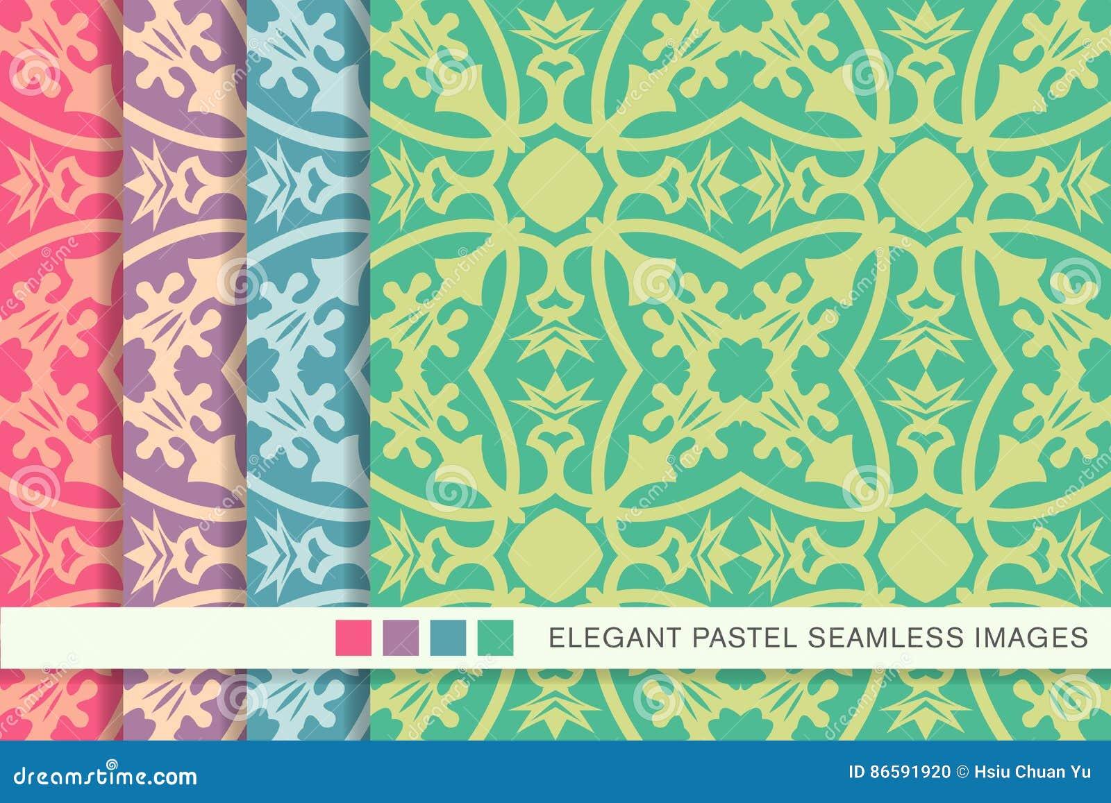 Hoja determinada del cáliz de la vid de la flor del fondo en colores pastel inconsútil elegante