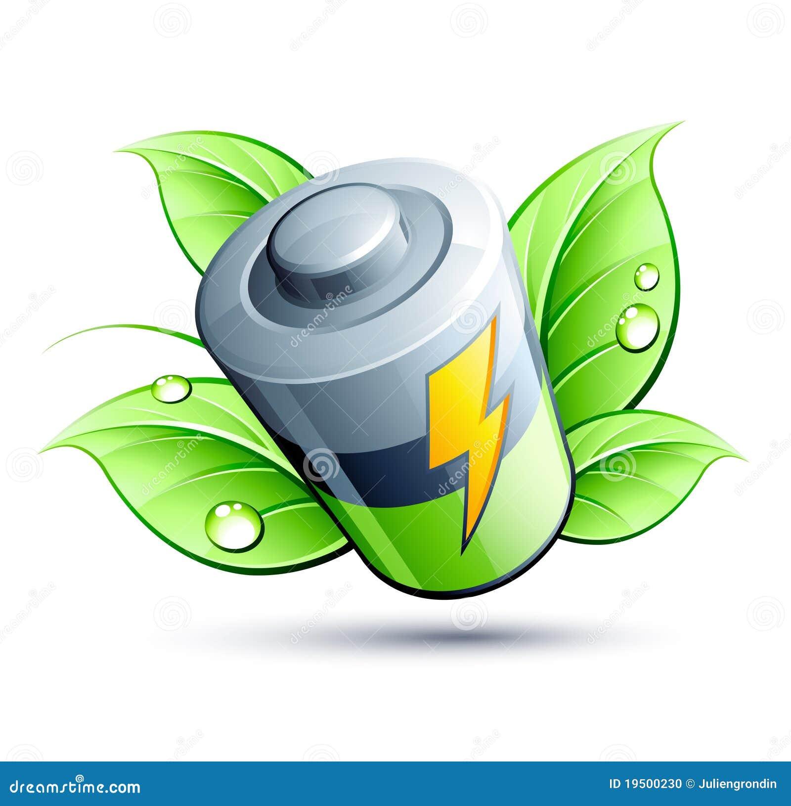 Hoja eléctrica del verde de la batería