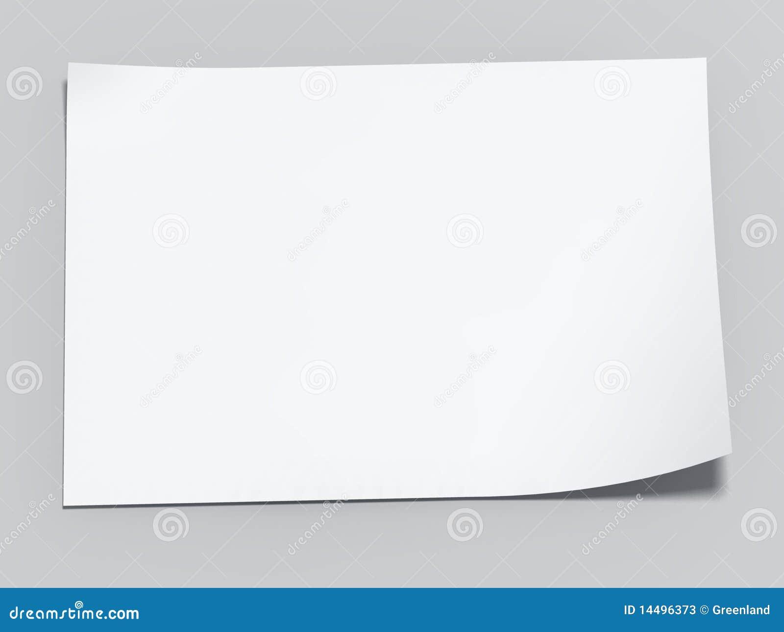 Hoja En Blanco Del Papel Stock De Ilustración