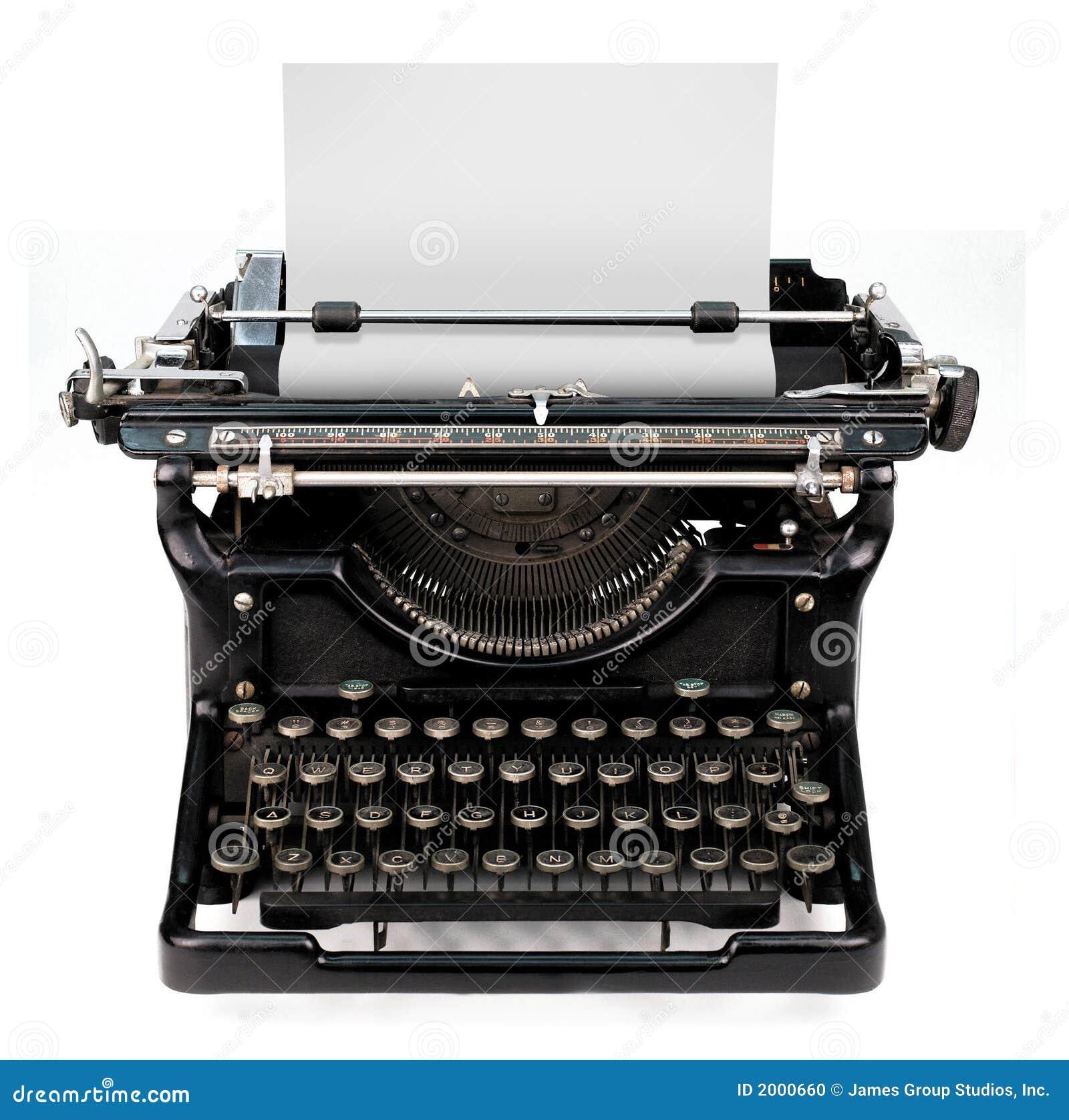 Hoja en blanco en una máquina de escribir