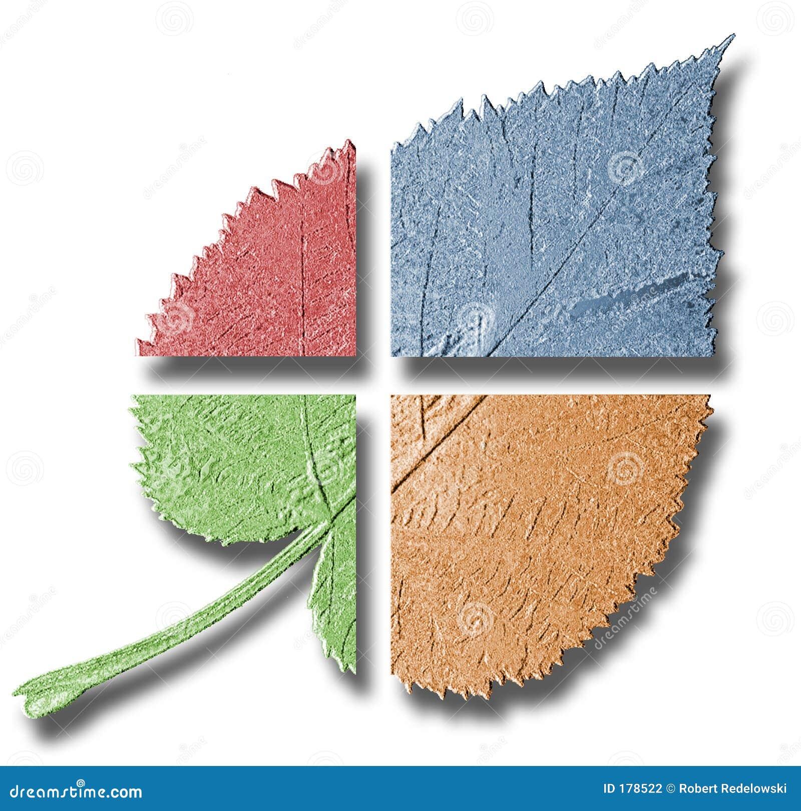 Hoja multicolora