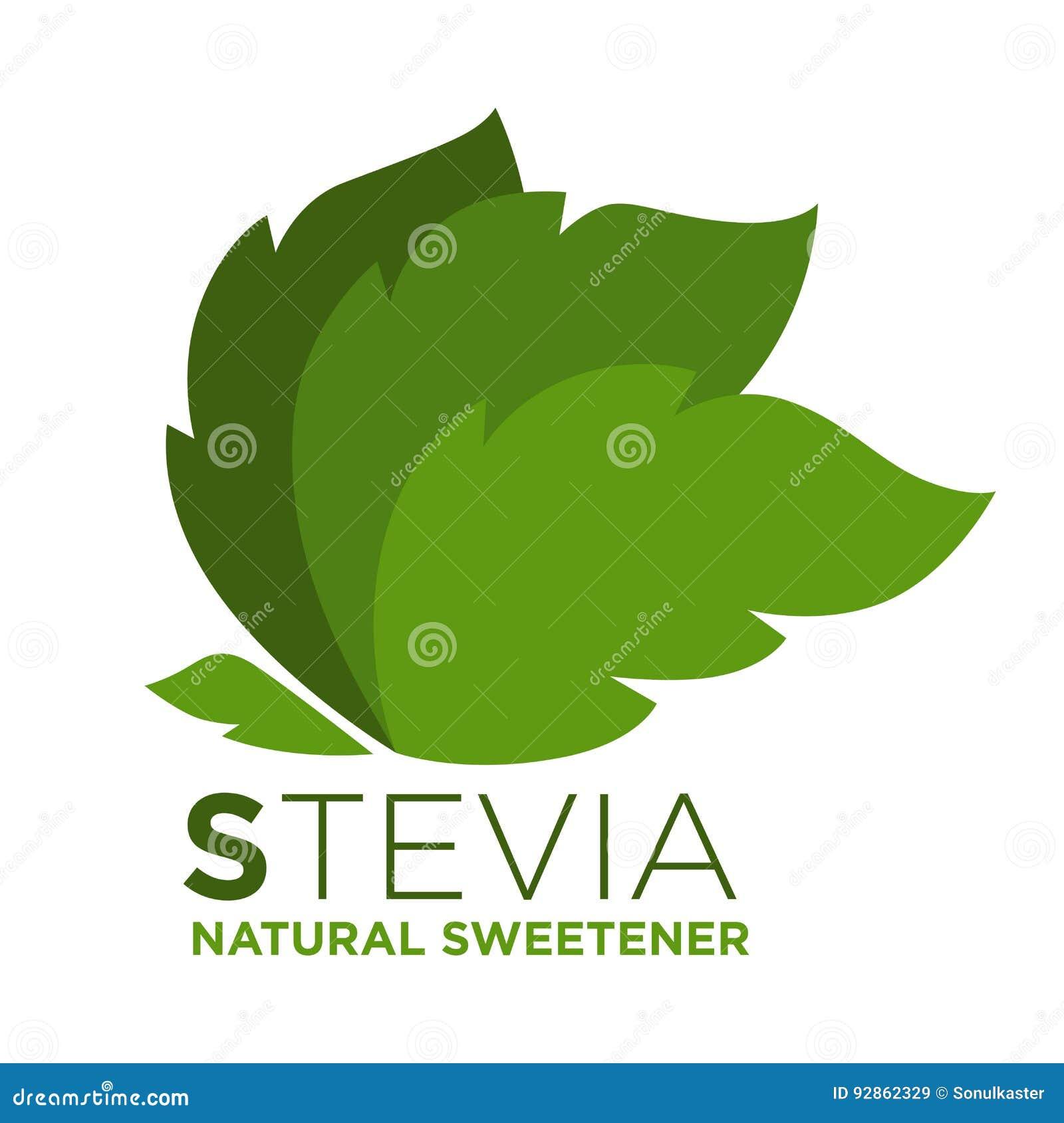 Hoja Natural Del Verde Del Edulcorante Del Stevia Con La