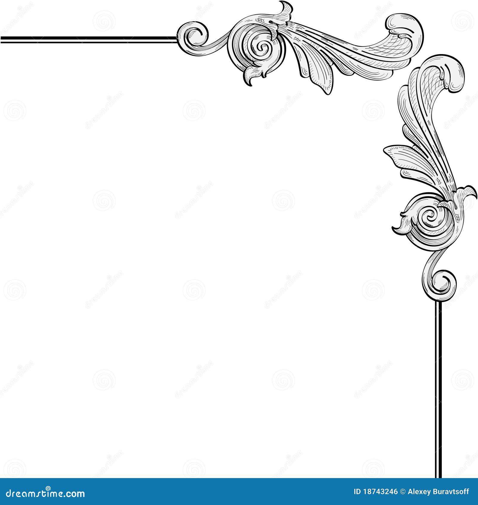 Hojas Adornadas Ilustración Del Vector Ilustración De
