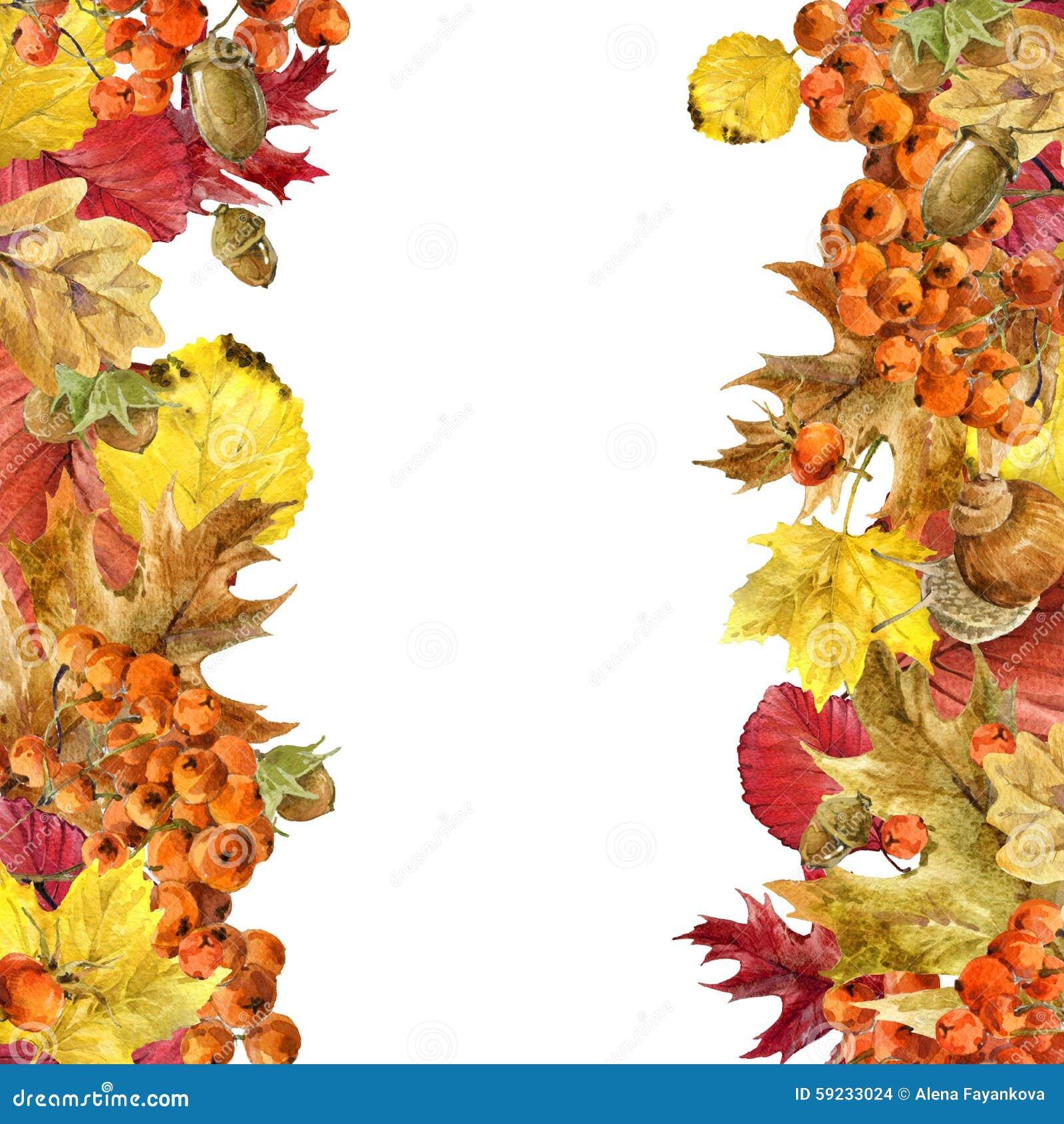 Download Hojas Coloridas Del Fondo De La Acuarela Del Otoño Stock de ilustración - Ilustración de mariposa, flor: 59233024
