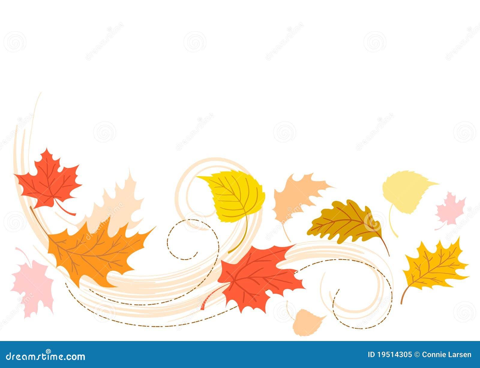 Hojas de la caída del otoño que soplan