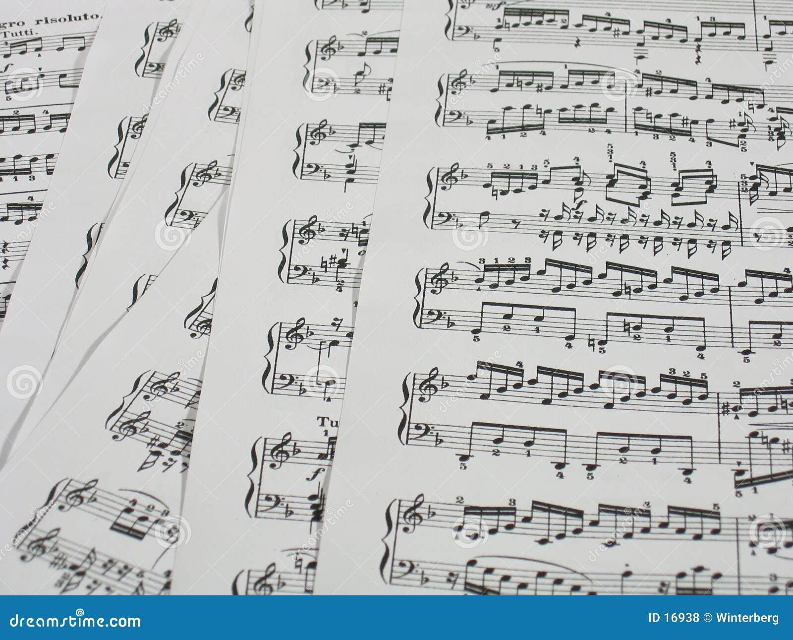 Hojas de la música