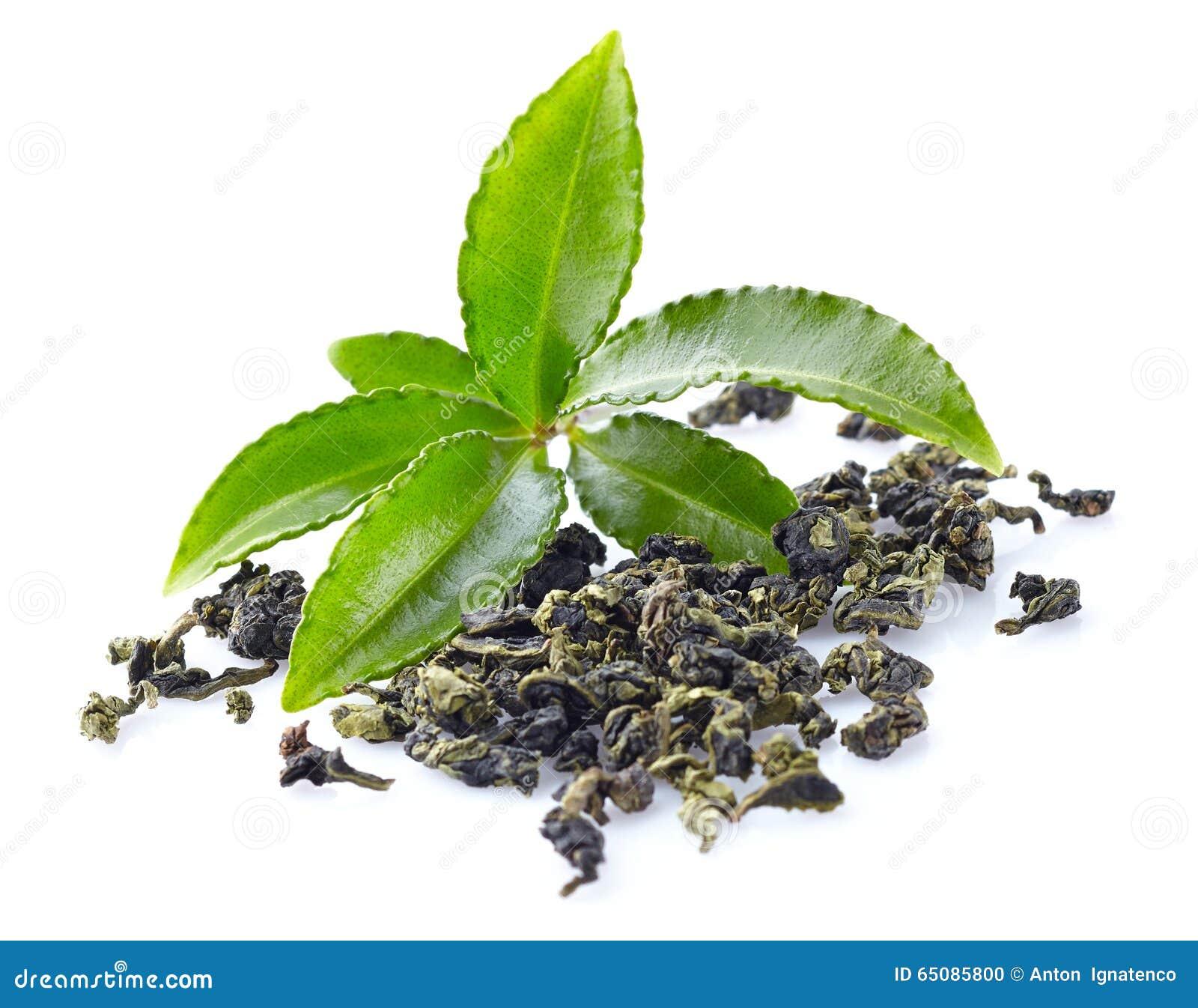 Hojas de té verdes