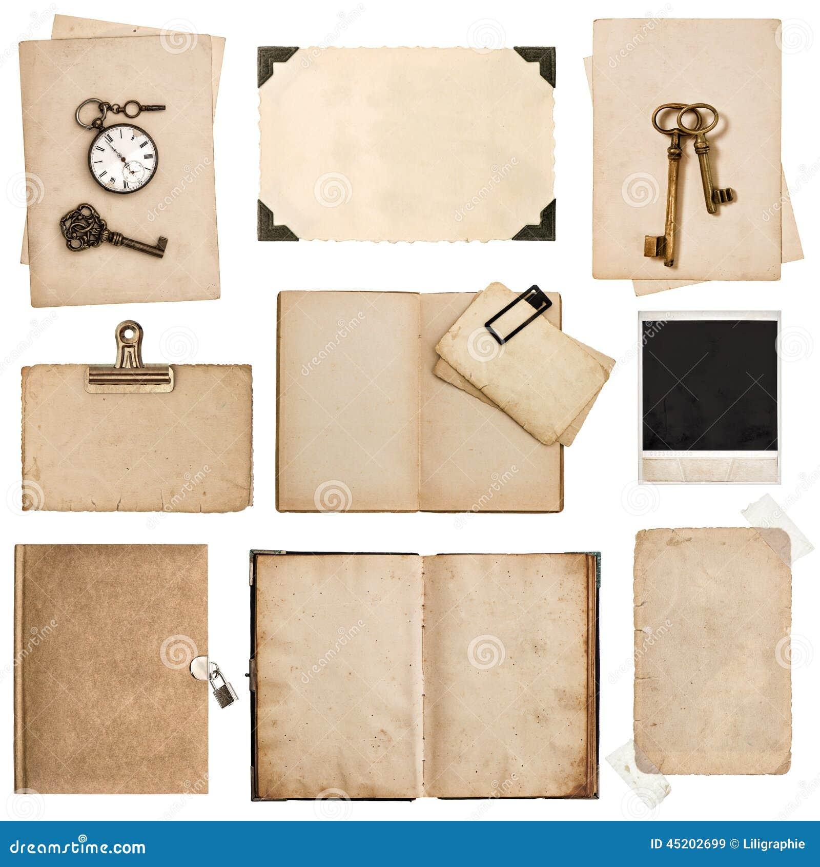 Hojas libros y marcos de papel sucios antiguos de la foto - Marcos de papel para fotos ...