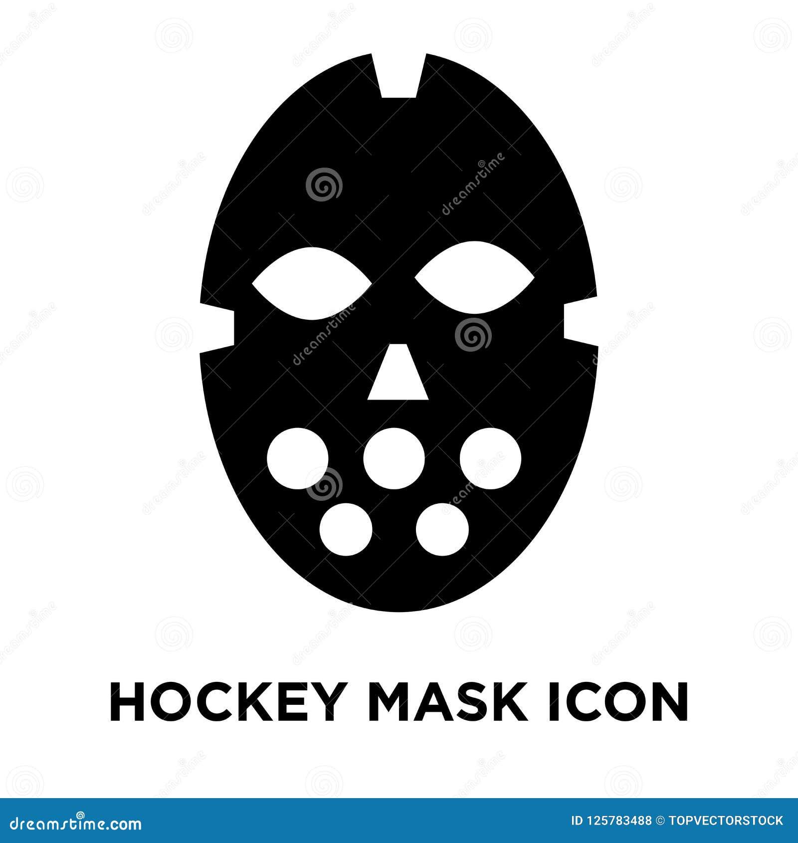 Hokej ikony maskowy wektor odizolowywający na białym tle, loga conce