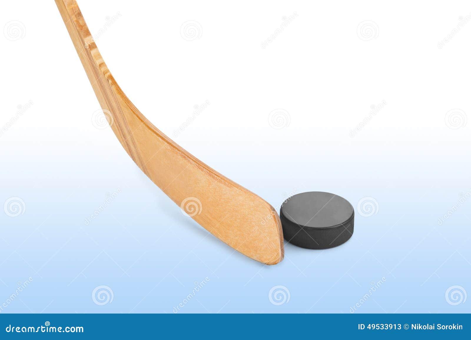 Hokeja lodowy krążek hokojowy kij