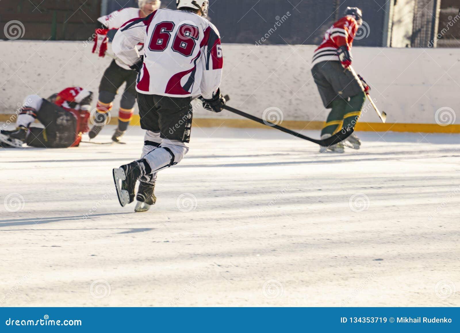 Hokeja na lodzie dopasowanie, gracze oba drużyny współzawodniczy na mistrzostwie f