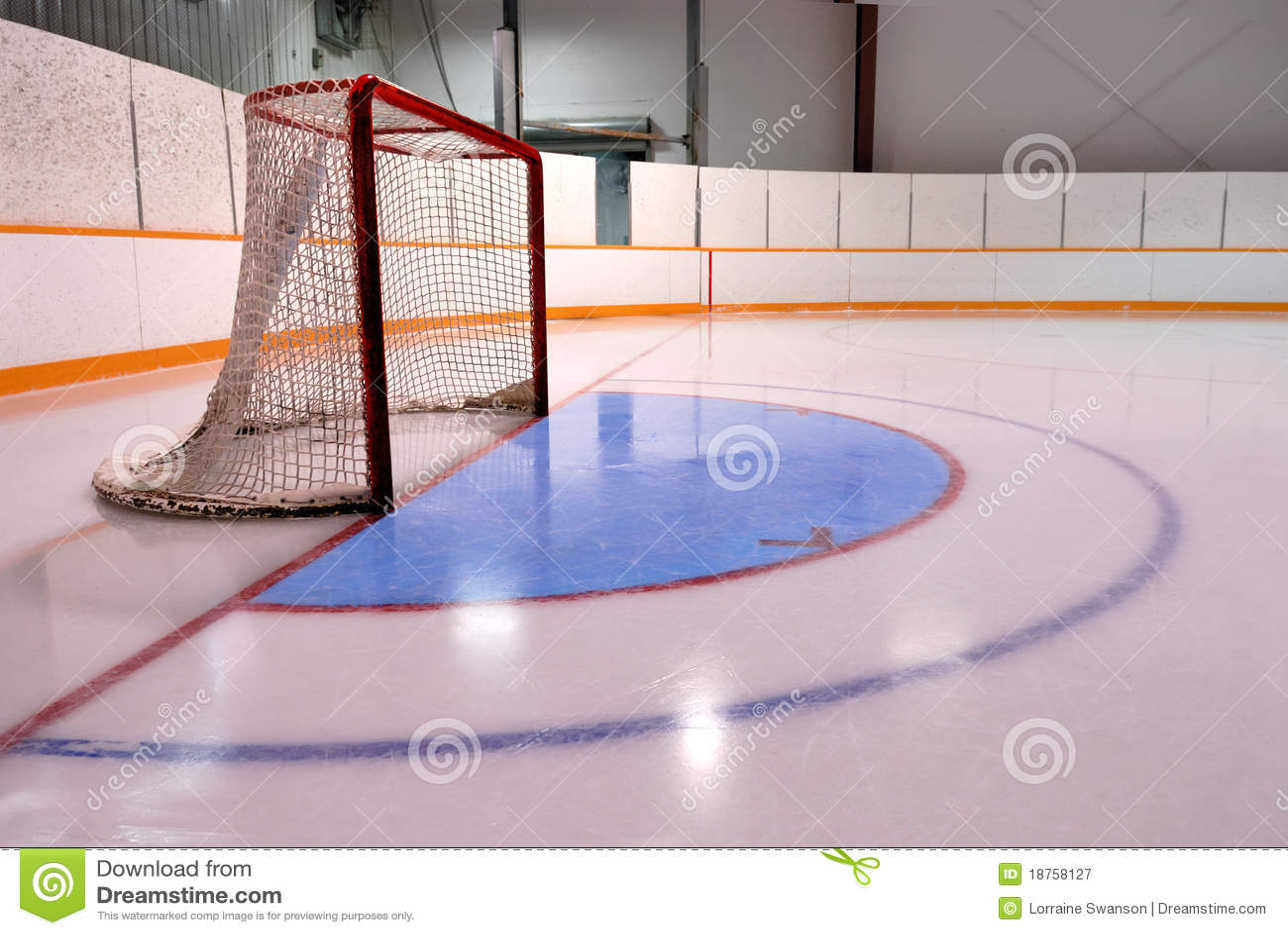 Hokeja netto ringette lodowisko
